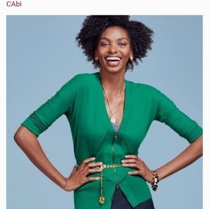 Cabi Banner Green Zipper Front Cardigan Style 5142